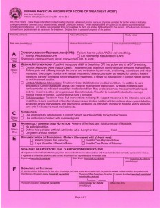 Indiana POST form 2013